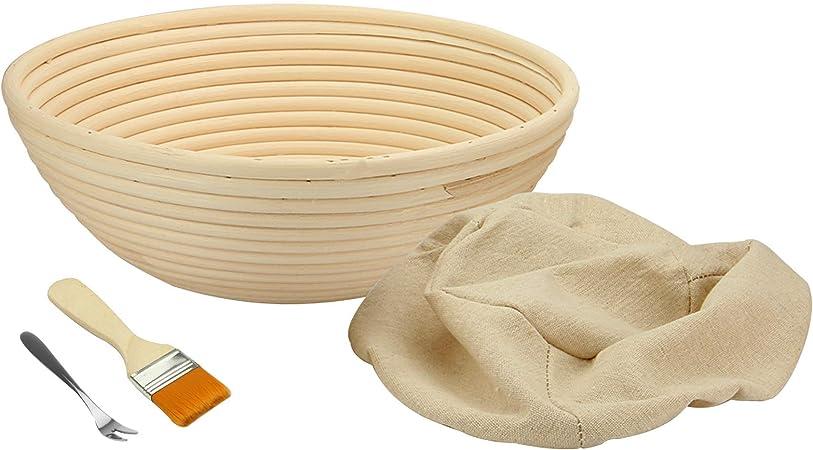 Panier banneton pain,banneton /à pain Ovale de 8 pouces Banneton Panier avec doublure en tissu et grattoir /à p/âte Corbeille /à pain Ovale Banneton Pain Corbeille /à Pain en Osier parfaits pour levain