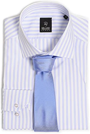 Camisa para hombre Custom Fit Milano + corbata: Amazon.es ...
