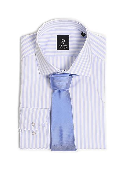 Camisa para hombre Custom Fit Milano + corbata: Amazon.es: Ropa y ...