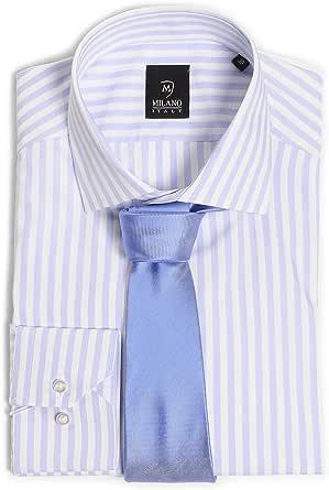 Camisa para hombre Custom Fit Milano + corbata: Amazon.es: Ropa y accesorios