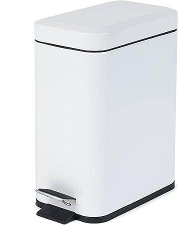 Bianco Salter BW06667/W Rettangolare Cucina Bagno pattumiera a Pedale 5/Litri 30/x 14