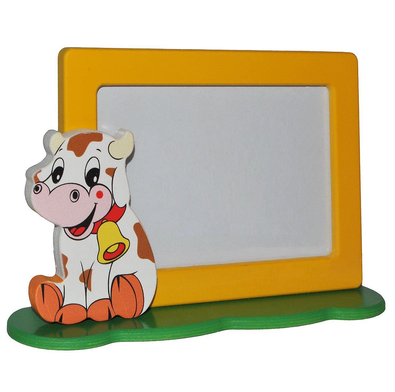 3-D Fotorahmen / Bilderrahmen aus Holz incl. Namen - Kuh - mit 1 ...