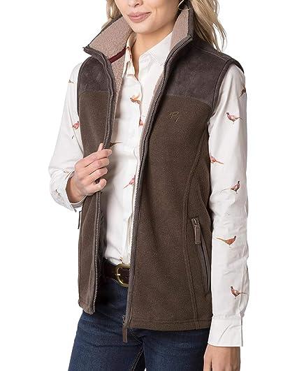 Rydale Ladies Fleece Gilet Motif Bodywarmer Women/'s Country Waistcoat Jacket