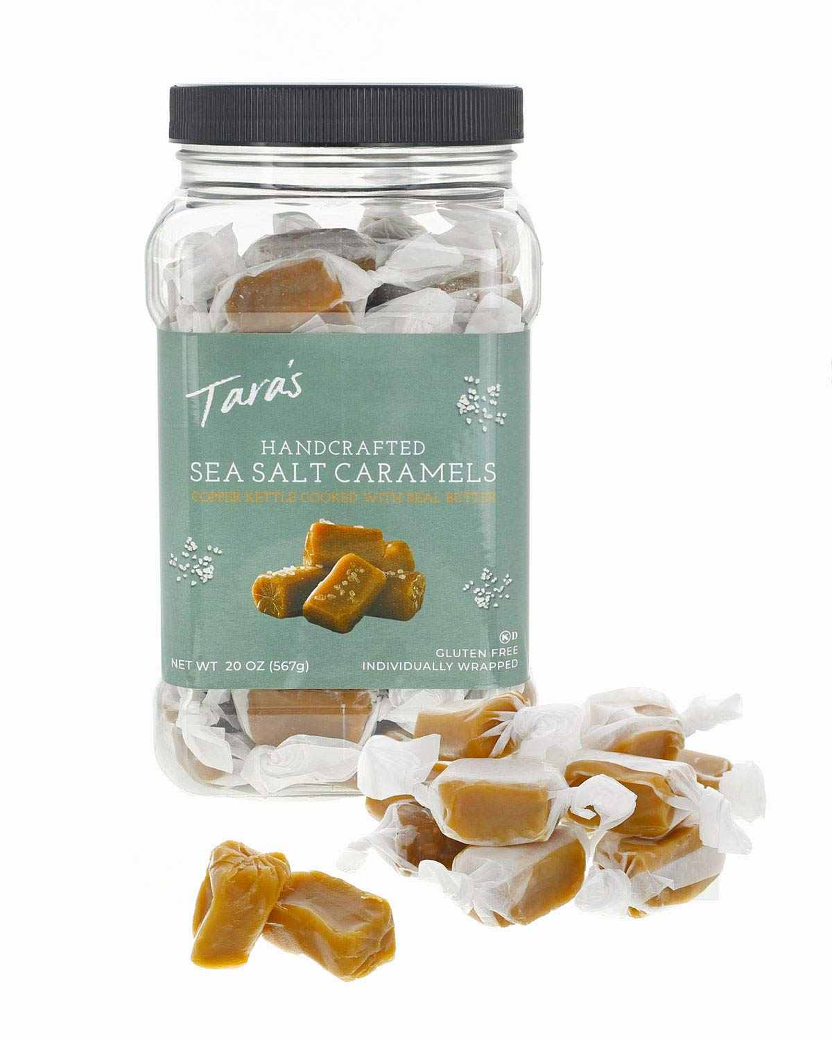 Tara's All Natural Handcrafted Gourmet Sea Salt Caramel: Small Batch, Kettle Cooked, Creamy & Individually Wrapped - 20 Ounce by Tara's (Image #4)