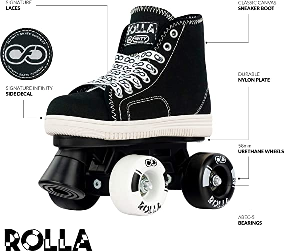 Crazy Skates Rolla Roller Skates for Boys and Girls Great Beginner Kids Quad Skates