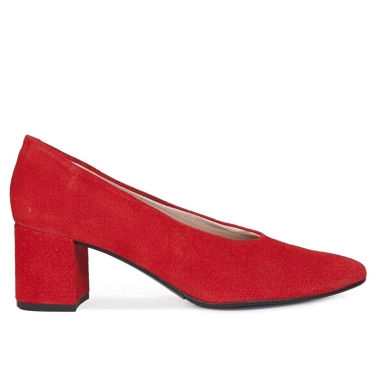 Zapatos Salón. Zapatos Piel Mujer Hechos EN ESPAÑA. Zapatos Tacón Rojo. Zapato Mimao. Zapatos Mujer Tacón. Zapatos Mujer Fiesta. Zapato Cómodo Mujer con Plantilla Confort Gel