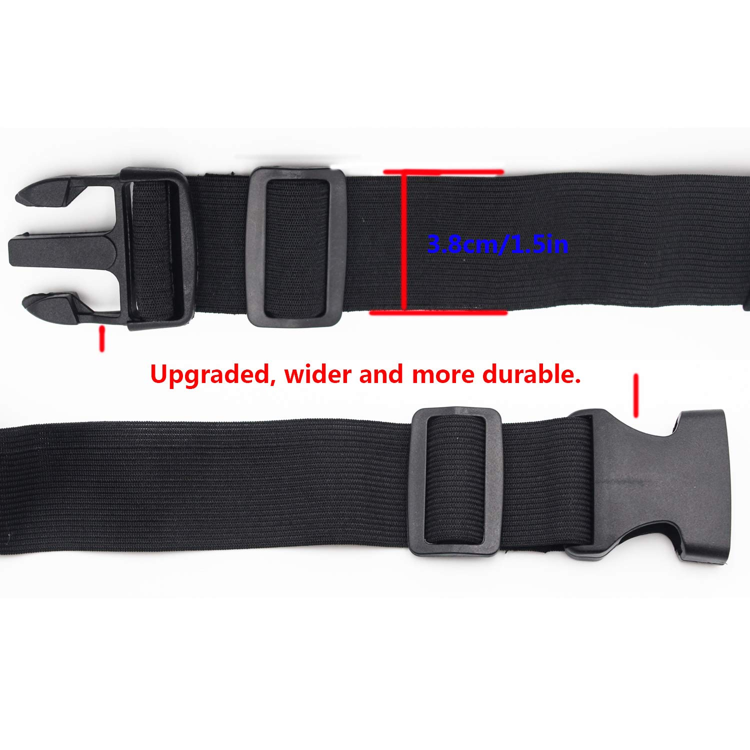 FREGITO Waterproof Running Belt Soft Double Pocket for Fishing Sport Belt Smooth Breathable High Capacity Waist Packs for Women and Man Upgrade