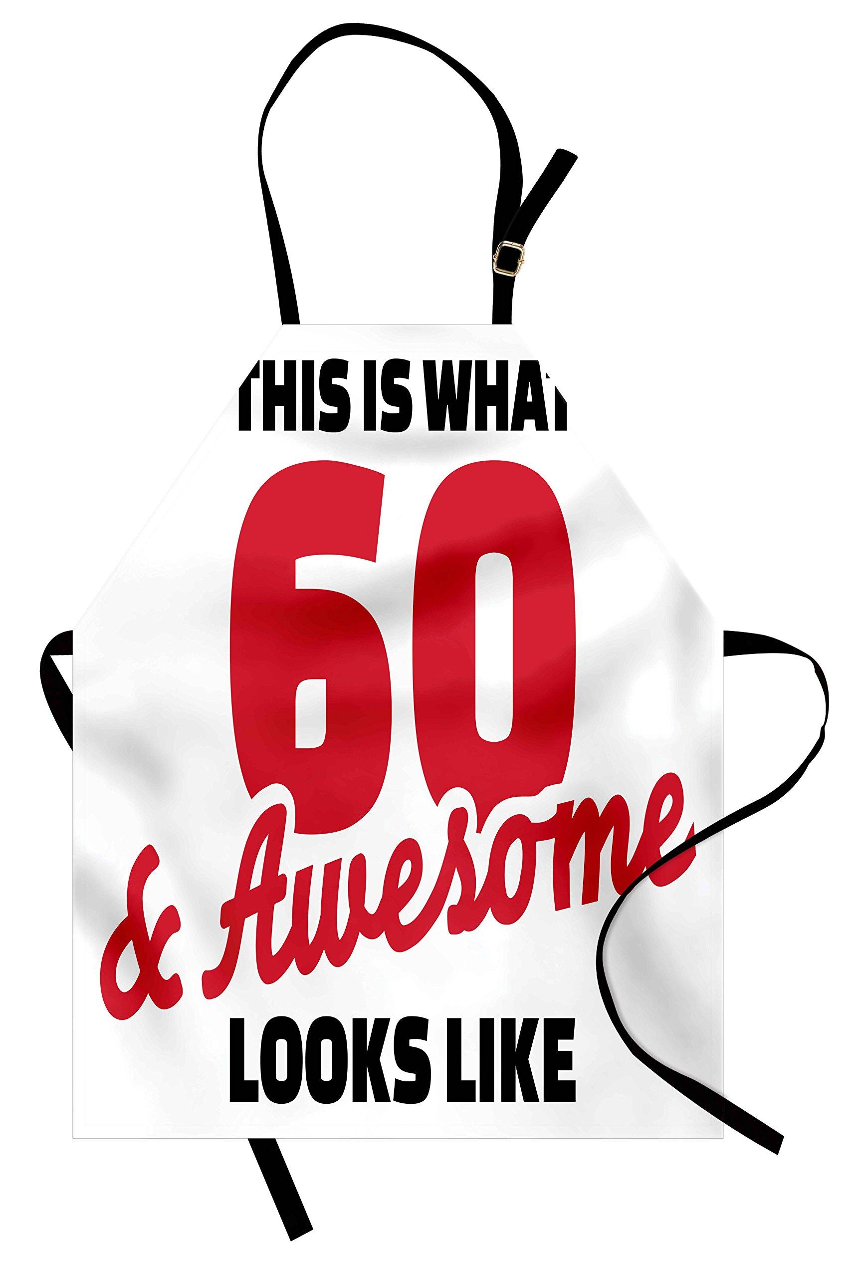 Ambesonne 60th Birthday Apron, Motivational
