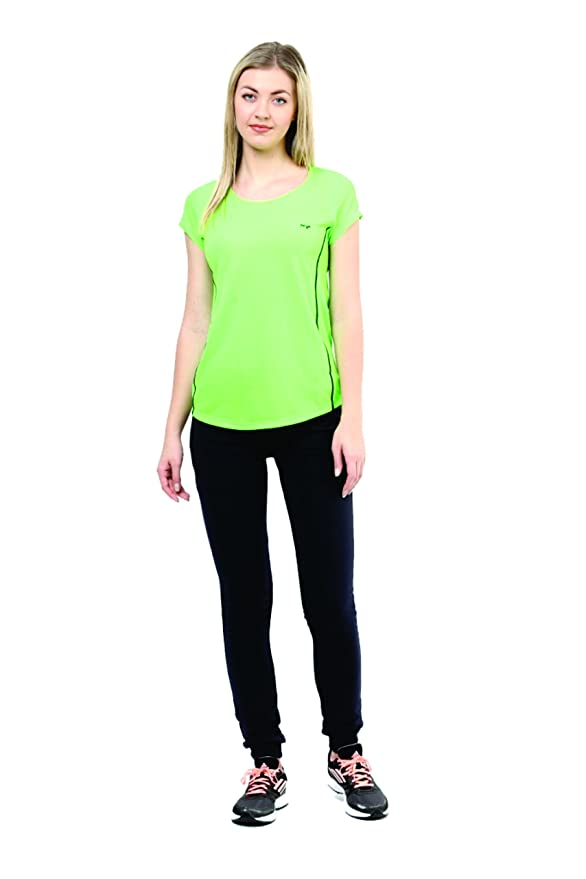 5f6d0696 berge' Women's Instadry Round Neck Neon Green Tee (8103_Neongreen_L):  Amazon.in: Clothing & Accessories