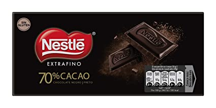 NESTLÉ EXTRAFINO Chocolate Negro - Tableta de Chocolate 120g