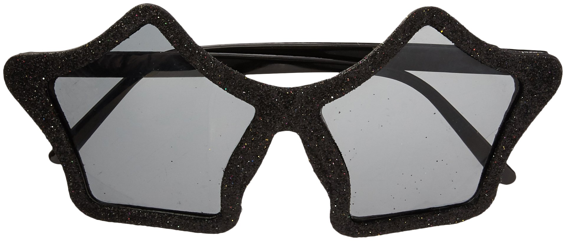 Amscan Eye-Catching Glitter Star Glasses Party Supplies, Black