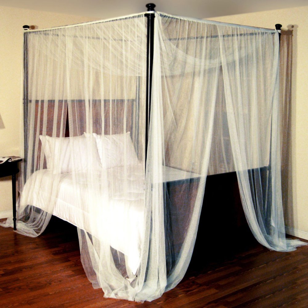 Amazon.com: Epoch Hometex Palace Four-Poster Bed Canopy Black: Home &  Kitchen