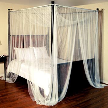 Epoch Hometex Palace Four-Poster Bed Canopy Ecru & Amazon.com: Epoch Hometex Palace Four-Poster Bed Canopy Ecru: Home ...