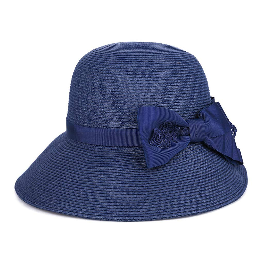 Liangliang Summer Lady Straw Hat Light And Breathable High Density Sun Protection Cap Multicolor color : Dark brown