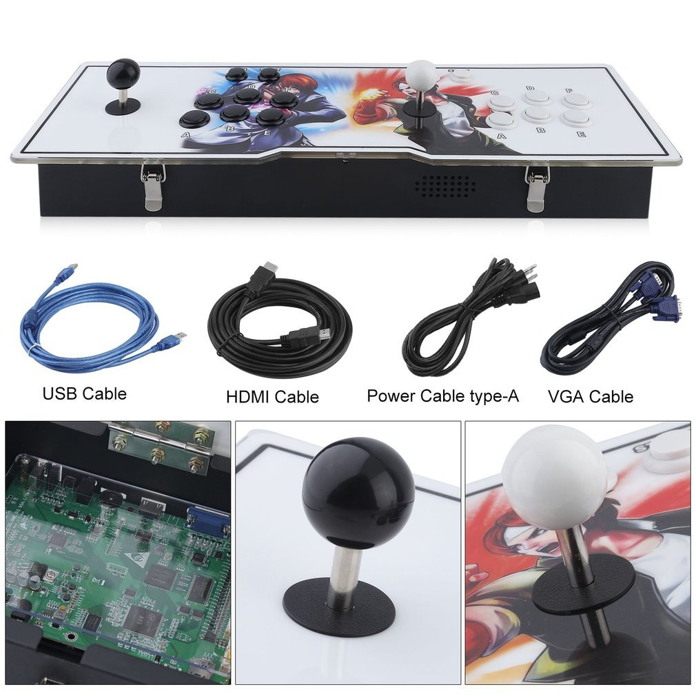 GiODLCE Classic 800 in 1 Video Arcade Games Console, Home TV Double Stick Arcade Console Fight Games Gamepad Machine w/VGA HDMI USB Connector for TV Monitor VGA HDMI Output (800 in 1) by GiODLCE (Image #3)