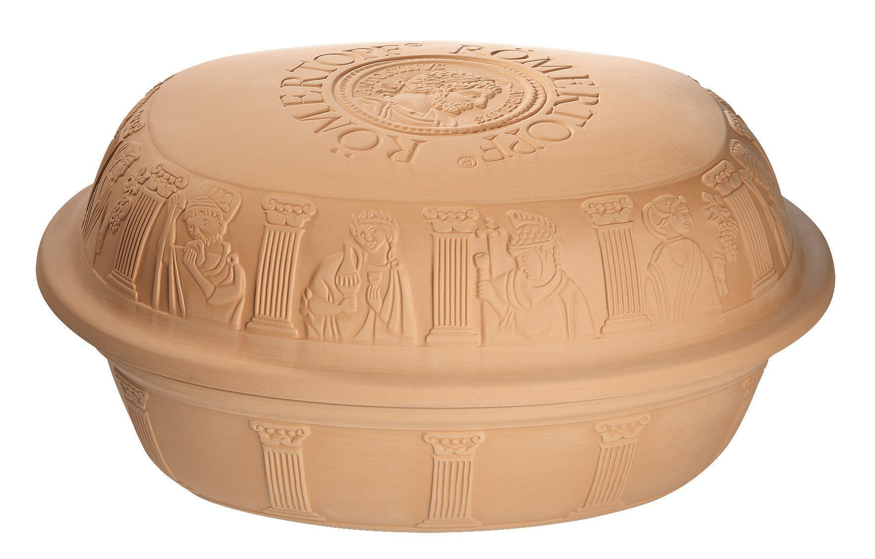 Romertopf Extra Large for Turkey Glazed Clay Roaster, 7.3 quart, Terracotta