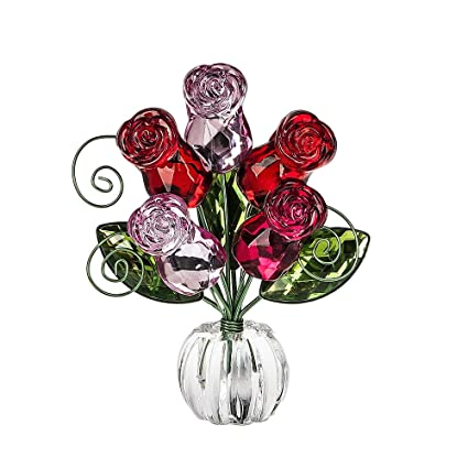 Amazon rose posy flower bouquet 45 inch acrylic tabletop photo rose posy flower bouquet 45 inch acrylic tabletop photo holder figurine pink and red mightylinksfo