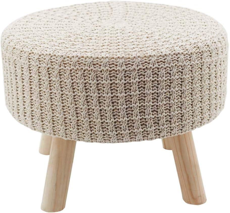 NO/BRAND Cotton Hand Knitted Multipurpose Vanity Seat