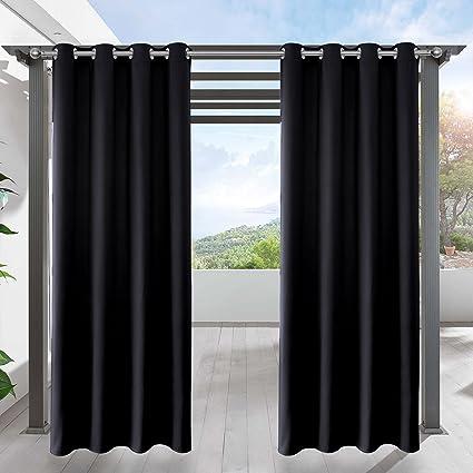 Amazon Com Lifonder Blackout Outdoor Curtain Drapes Indoor