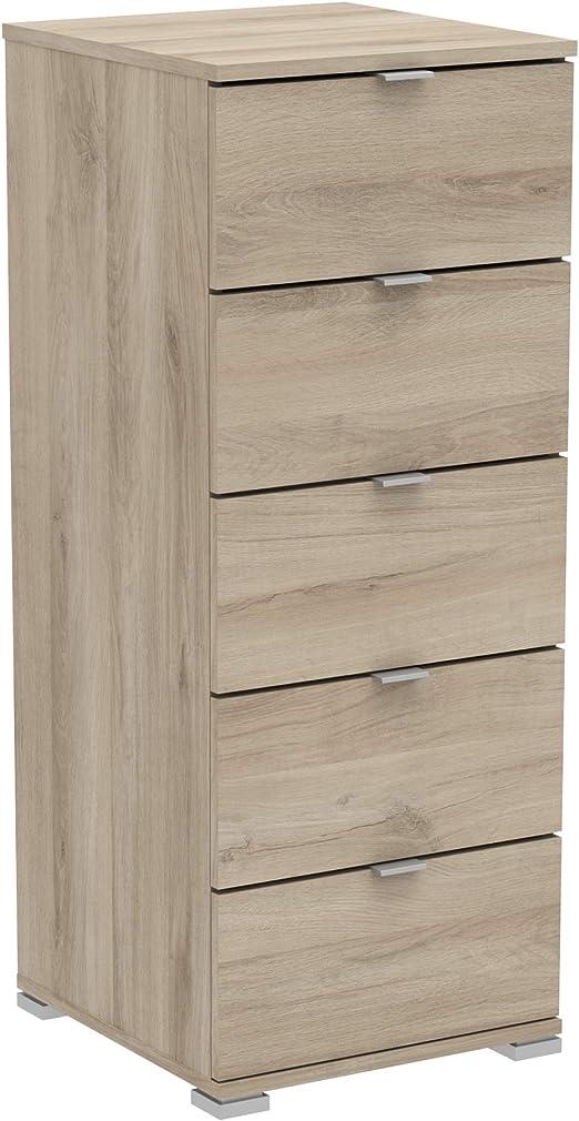 Habeig Kommode Perfect 222 E Eiche 5 Schubladen Flurschrank Schrank Wascheschrank Holz Neu Amazon De Kuche Haushalt