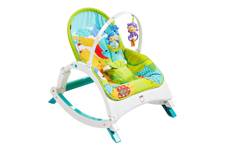 achat Fisher-Price Transat évolutif Amis de la Jungle 2-en-1 transat bébé et siège à bascule jeune enfant, jusqu'à 18 kg, CMR10 pas cher prix