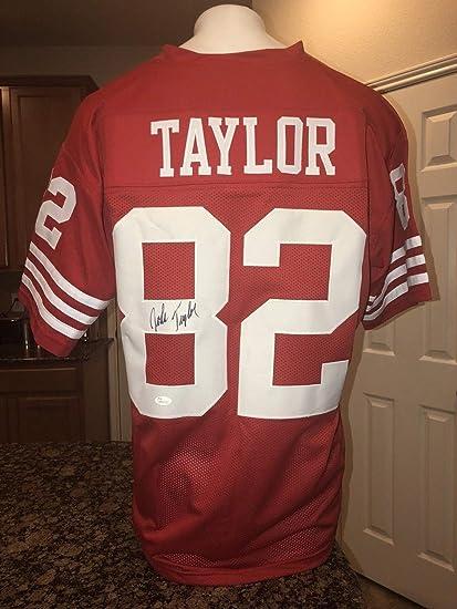 John Taylor 49ers Autographed Signed Red Football Jersey JSA - Size ... 43e772a80
