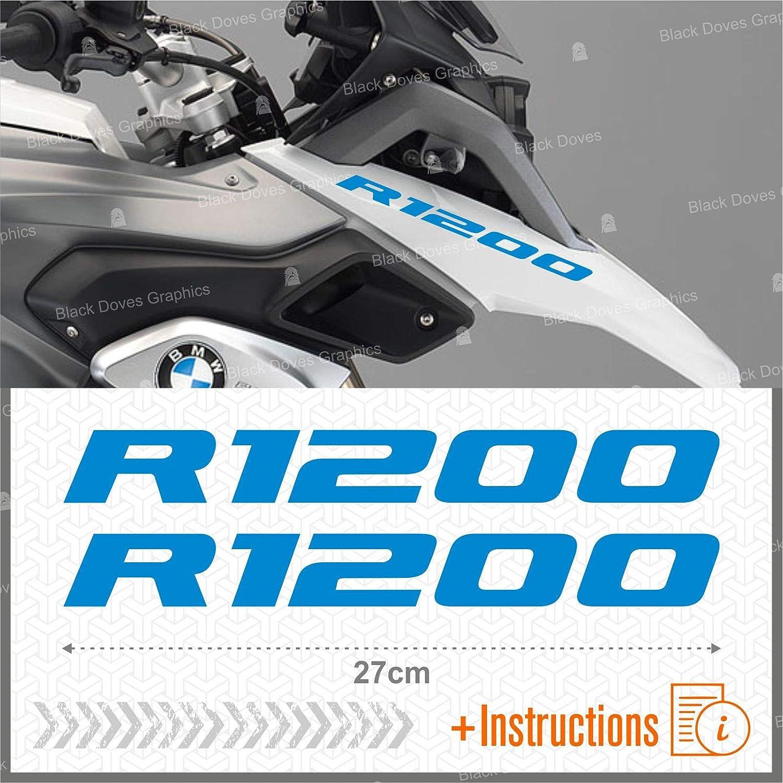 Rouge 2pcs adh/ésif R1200 Compatible avec Les Motos Motorrad R1200GS Adventure R 1200 GS