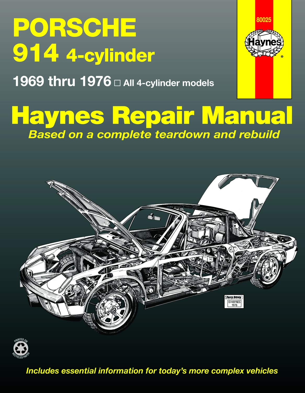 Haynes Repair Manual for 1970-1976 Porsche 914 Shop Service Garage Book we