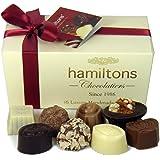 Hamiltons Ivory Luxury Belgian Ballotin 16 Handmade Chocolates Gift Box
