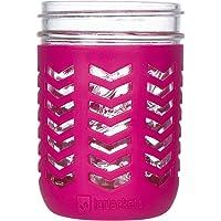 JarJackets Silicone Mason Jar Protector Sleeve - Fits Ball, Kerr 16oz (1 Pint) Wide-Mouth Jars