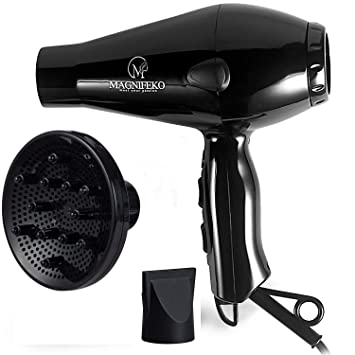 3fe0d9184b914 Magnifeko 1875W Professional Hair Dryer with Diffuser Ionic Conditioning -  Powerful, Fast Hairdryer Blow...