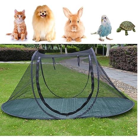 Jaula de juegos para perros y gatos, para camping, para pájaros, loros,