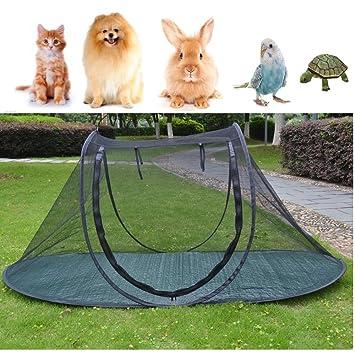 Jaula de juegos para perros y gatos, para camping, para pájaros, loros, playpens, casa, pequeños animales, interior/exterior, tienda de campaña, ...