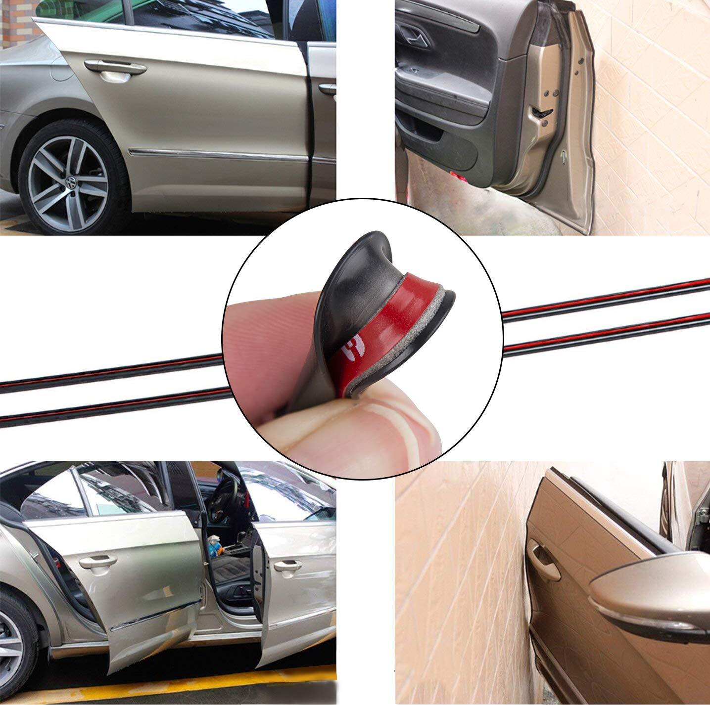 32ft Black Edge Door Guard Trim Car Molding Protector Auto Strip Moulding Guards
