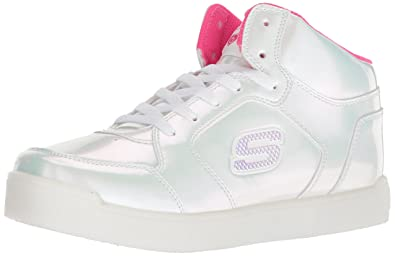 1f23ed54d18 Skechers Girl s Energy Lights  E-pro Pearl Princess Hi-Top Trainers ...