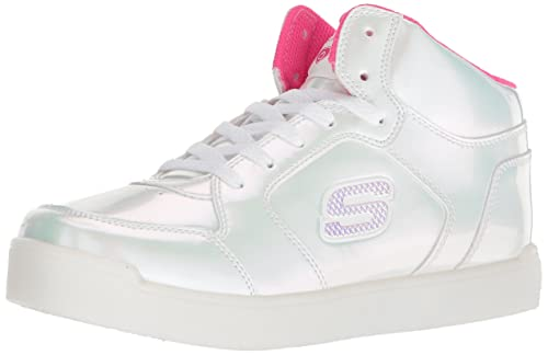 Details about Skechers Kids Pearl Princess Energy Lights Childs Trainers Light Up Lace
