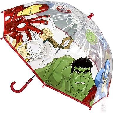 Marvel Avengers Transparent Umbrella for Boys 90 cm Diameter Red