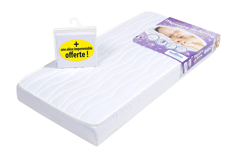 Yoopidoo Memory Foam Matratze für Baby 60 x 120 cm