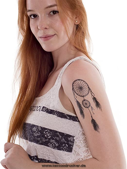 Atrapasueños Tattoo Negro Flash tattooo desechables para brazo ...