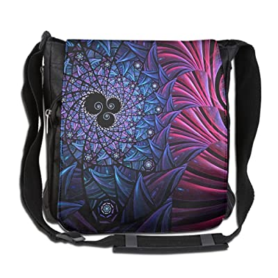 Abstract Fractal Color Fashion Print Diagonal Single Shoulder Bag