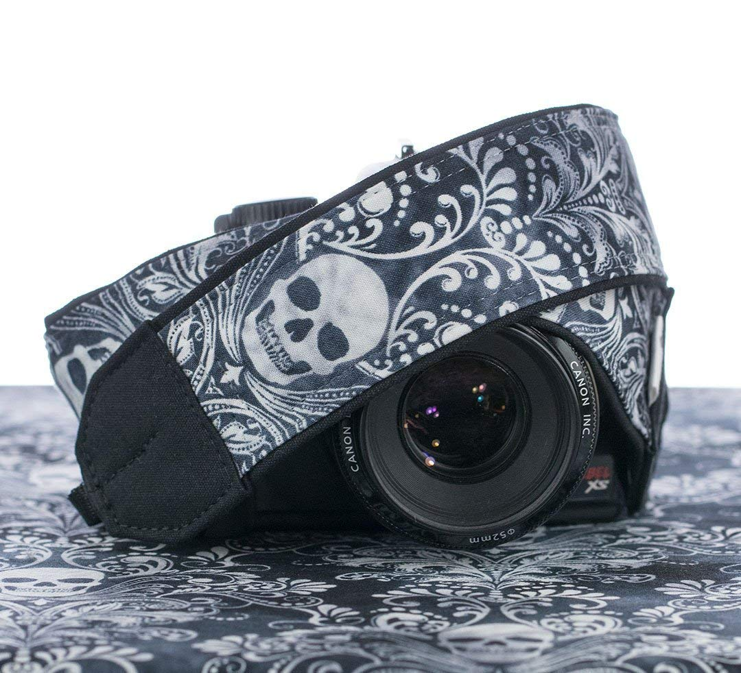 Damask Skull Camera Strap For dSLR 266 SLR or Mirrorless Cameras