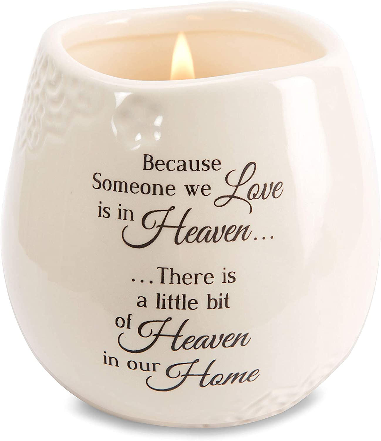 Amazon.com: Pavilion Gift Company 19177 in Memory of Loved One Ceramic Soy  Wax Candle: Home & Kitchen