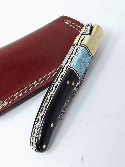 Amazon.com: Damasco Cuchillos estilo Laguiole Cuchillo de ...
