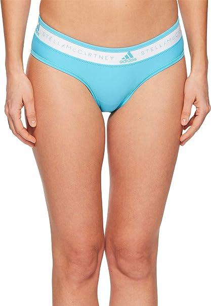 d6e6cc3c7c46d Amazon.com: adidas by Stella McCartney Women's Bikini Swim Bottom CE1774 Mirror  Blue Large: Clothing