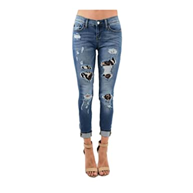 07c0c9e64068 Judy Blue Leopard Patch Distressed Skinny Jeans (Regular & Plus Sizes) (0/