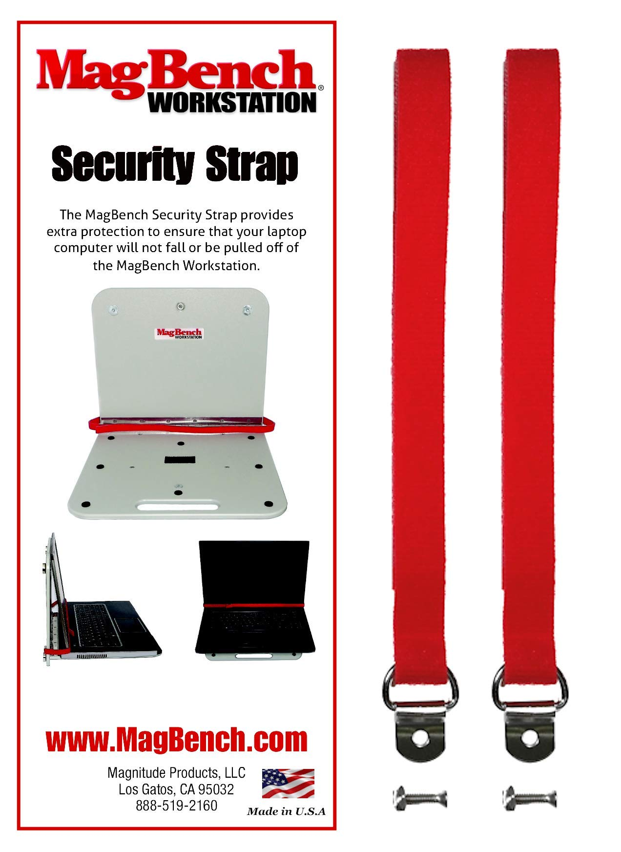 MagBench Workstations MBSS Security Strap Kit by MagBench