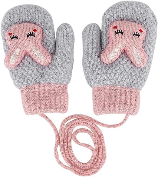 Cartoon Kids Baby Child Winter Gloves Toddler Boy Girl Mittens Hand Warmer Hot
