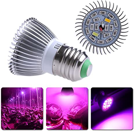 500LM LED Plant Grow Light Indoor Hydroponic 8W//18W//28W Bulb Veg Flower Growth