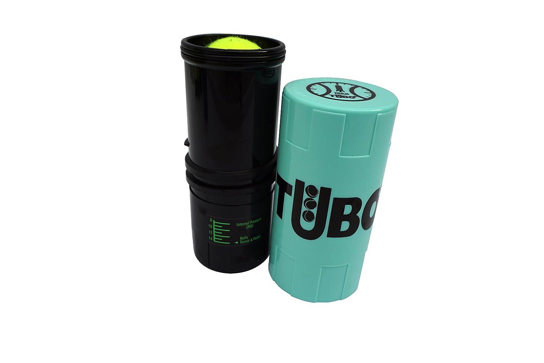 Tuboplus - Tubo / contenitore pressurizzato per palline da tennis / paddle. Colore: verde fosforescente. Proteggi più a lungo le tue palline da tennis e paddle, grazie a questo contenitore