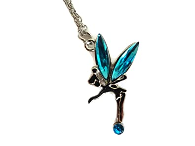 Sliver tone fairy pendant necklace tinkerbell design girls sliver tone fairy pendant necklace tinkerbell design girls turquoise aloadofball Image collections